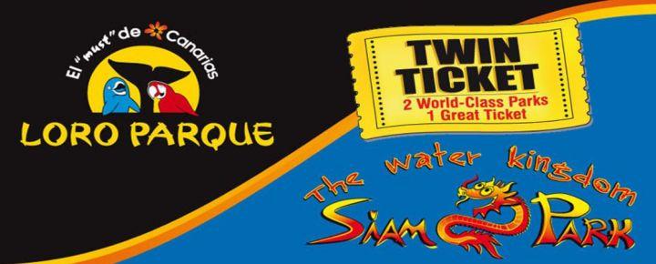 Tenerife: Twin-Ticket Loro Parque & Siam Park
